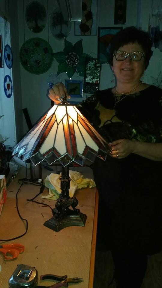 Elämää ja askartelua Tiffany lamppu projekti valmistui tänään