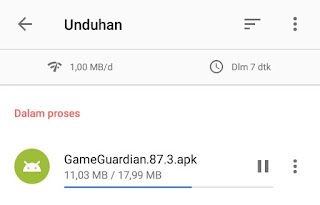 proses download game guardian