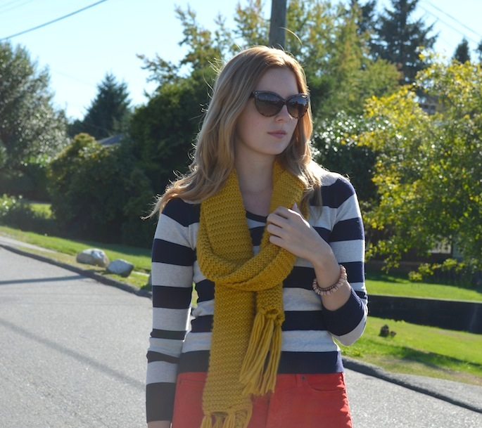 How to Style Stripes, GAP Boyfriend jeans, How to Style Boyfriend Jeans, How to Style Coloured Denim, Vancouver Style Blog, Canadian Style Blog, Canadian Fashion Blog