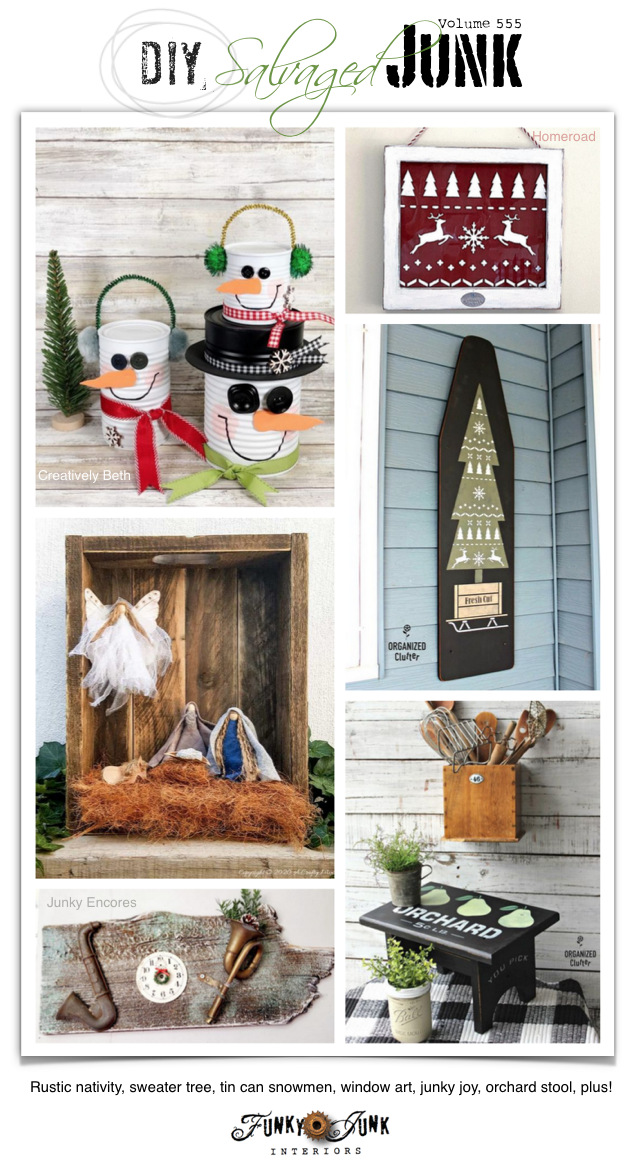 DIY Salvaged Junk Projects on Funky Junk!