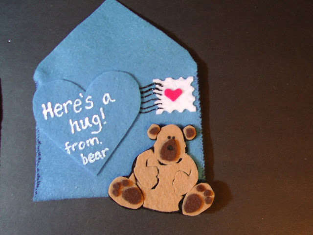 Felt Five Valentines Bear