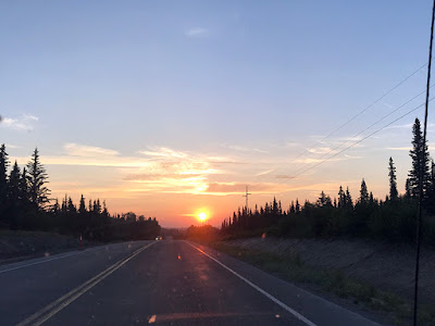Red Sun on Our Drive to Soldotna for Salmon Fishing