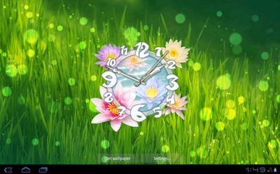 Flower Clock Live Wallpaper for Android app free download images3