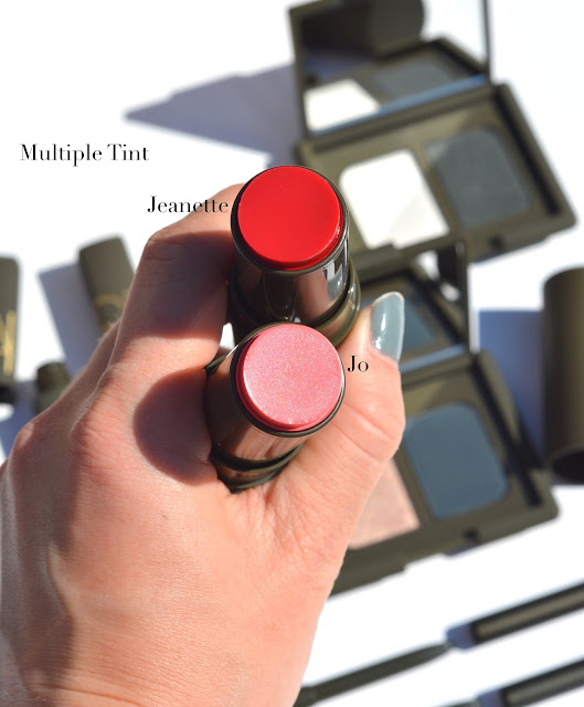 NARS x Charlotte Gainsbourg swatches review Jo Jeanette Alice Multiple Tint