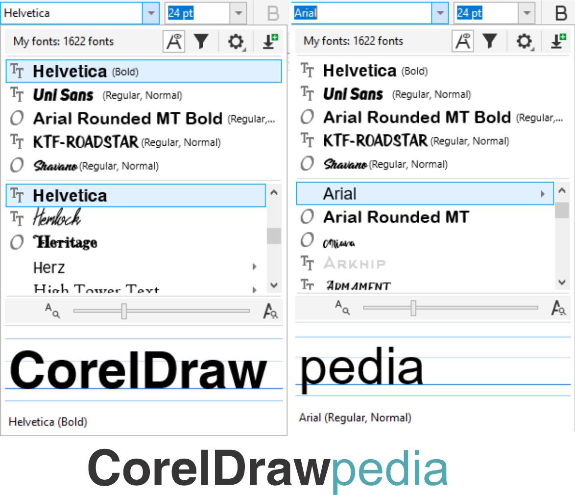 Font Corel Draw