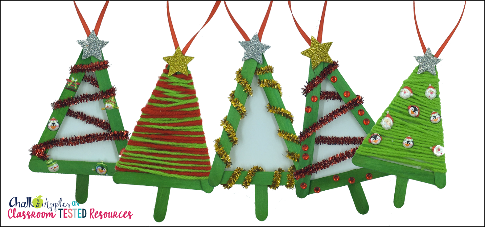 Popsicle Stick Christmas Tree Ornaments.4 Easy Popsicle Stick Christmas Ornaments Classroom Tested