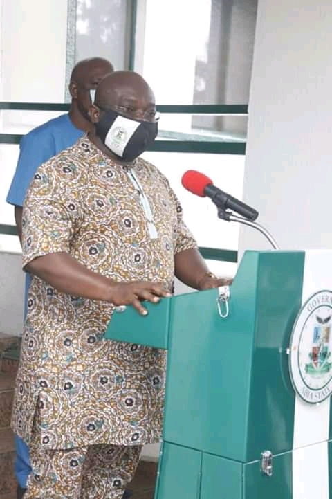 Ikpeazu Full Speech On Monday Press Briefing At Governor's Lodge, Aba