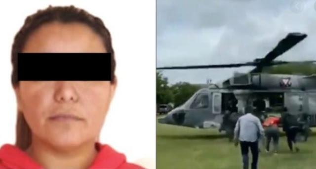 Marina detiene en Matamoros a Marta Alicia mujer líder e integrante de El Cártel del Golfo y de inmediato a trasladan en helicóptero