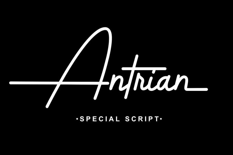 Antrian Font - Free Script Monoline Typeface