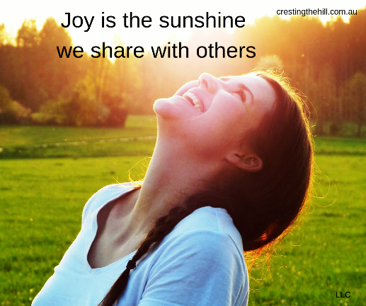 joy is the sunshine we share with others - let your light shine! #joy #quotes