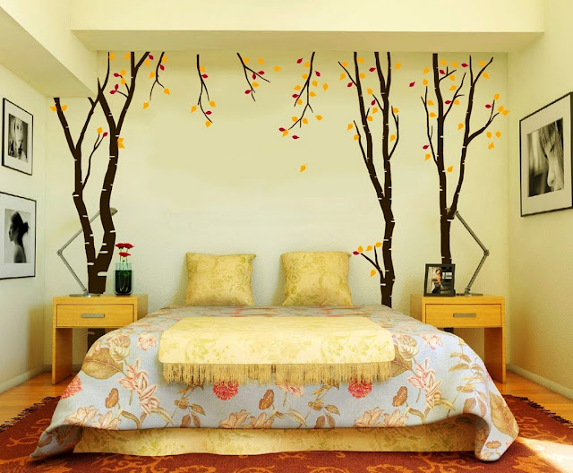 Unique wall art for the bedroom over the bed