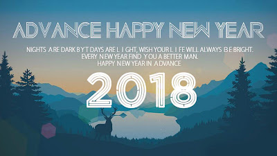 Advance Happy New Year 2018 Widescreen HD Image
