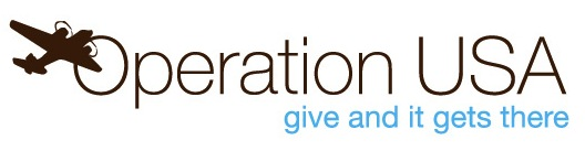 Operation USA: 'Give and It Gets There' logo