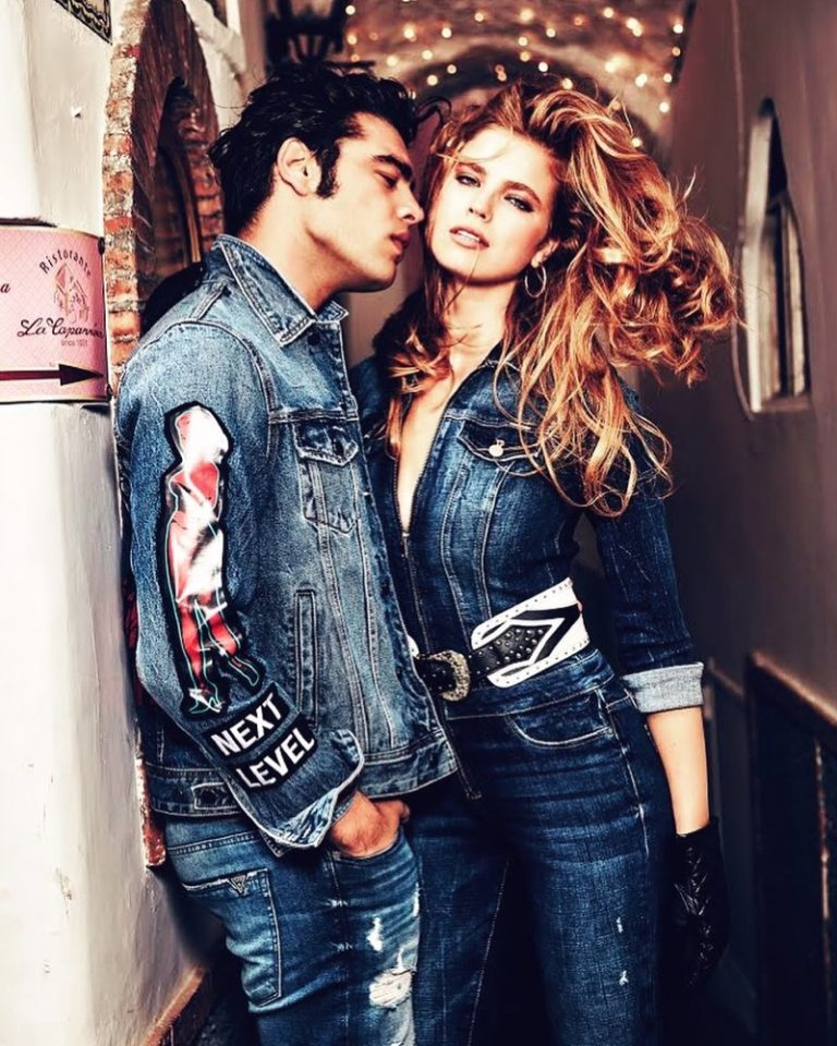 Stefano Sala and Emily Deyt-Aysage get up close and personal for Guess Denim fall-winter 2019 campaign