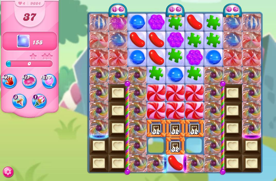 Candy Crush Saga level 9664