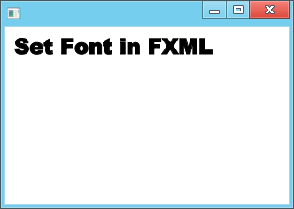 Set font in FXML