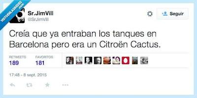 Creía que entraban tanques en Cataluña pero era un Citroën Cactus