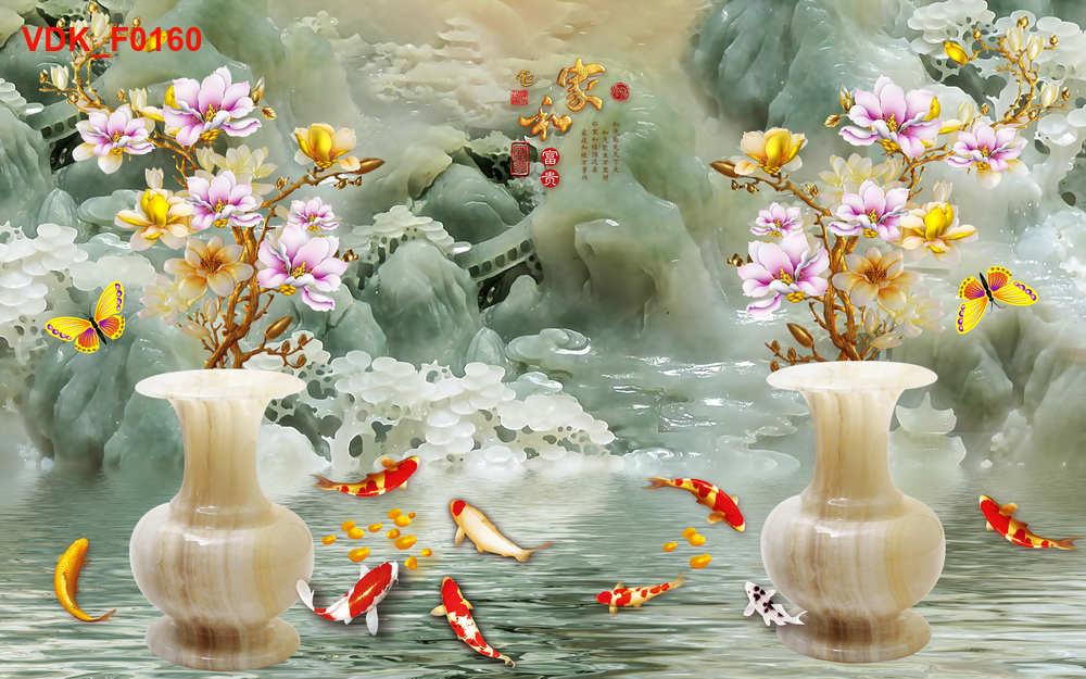 Tranh Đôi Lục Bình Ngọc Bích