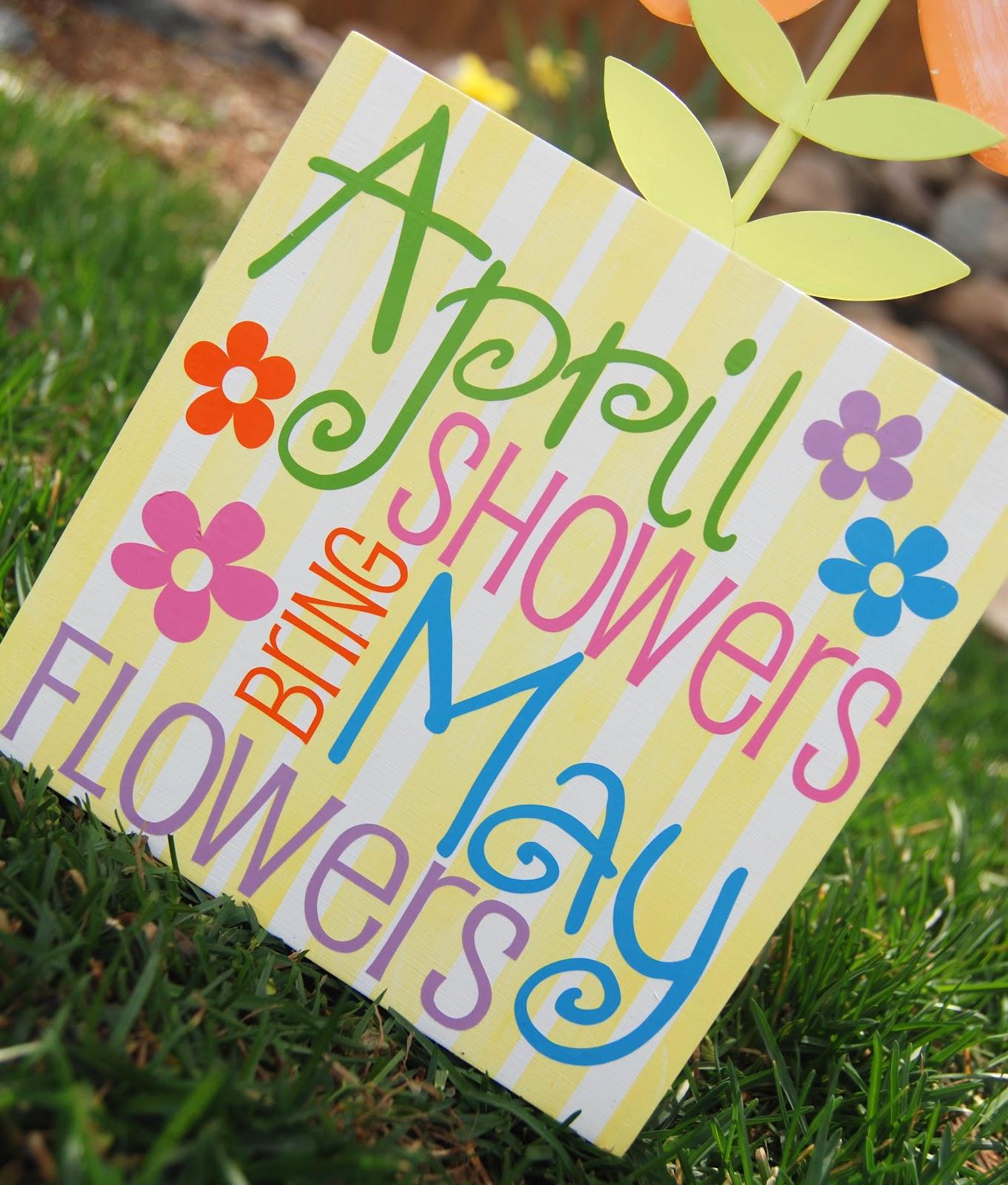 April Showers Bring May Flowers  Burton Avenue