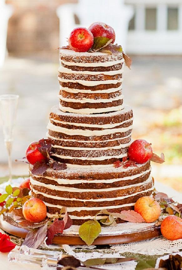 Beautiful Bridal Rustic Fall Wedding Cakes