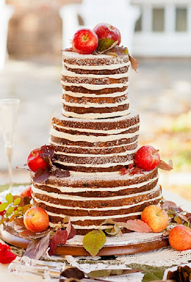 fall wedding cake with fruit