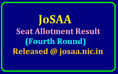 JoSAA Seat Allotment Result (Fourth Round) 2019 Released @ josaa.nic.in /2019/07/josaa-seat-allotment-result-fourth-round-2019-released-at-josaa.nic.in.html
