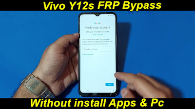 Vivo Y12s Google Account Reset Android11 Augest 2021Not Working Screen LockWithout Pc install Apps