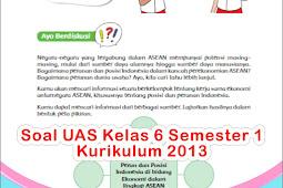 Soal UAS SD Kelas 6 Semester 1 Kurikulum 2013