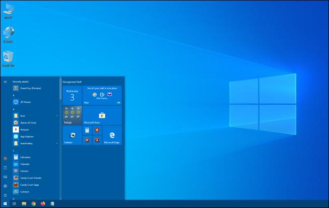 قائمة ابدأ في Windows 10