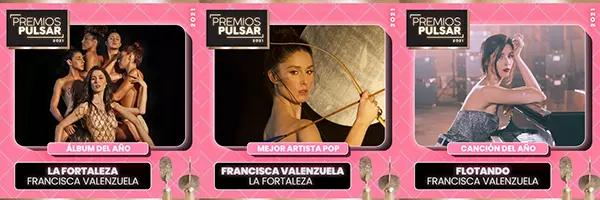 Francisca Valenzuela, Natisú y Frank's White Canvas resultan ganadoras en los Premios Pulsar 2021