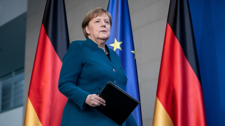 Angela Merkel In Quarantine After Contact With Doctor Tested COVID-19 Positive