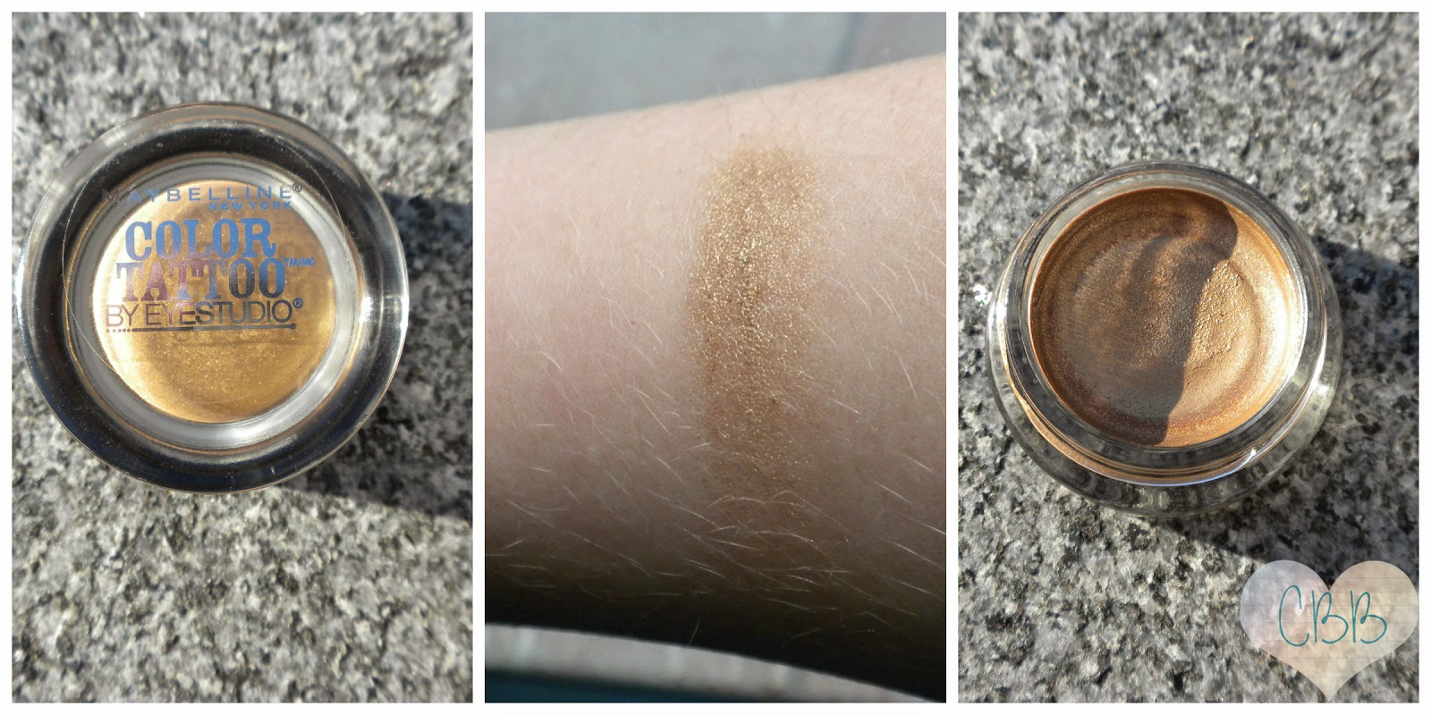 MAYBELLINE Eye Studio Color Tattoo Eyeshadow in Bold Gold ($7)