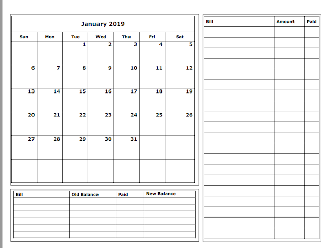 graphic about Budget Calendar Printable identified as Grace Christian Homeschool: Totally free 2019 Funds Calendars