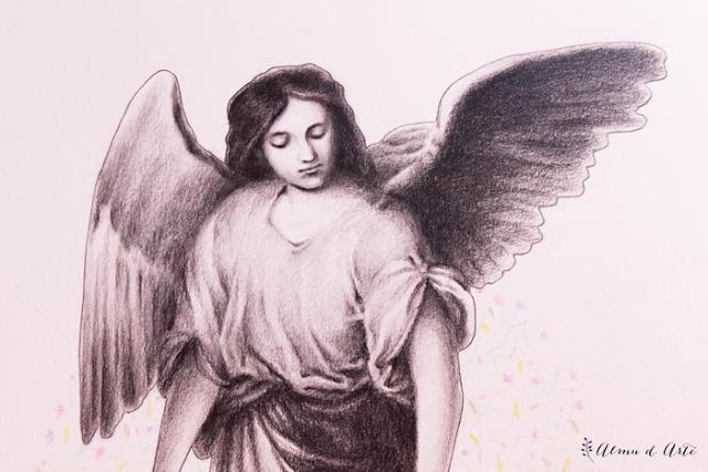 Dibujo de un ángel de la guarda