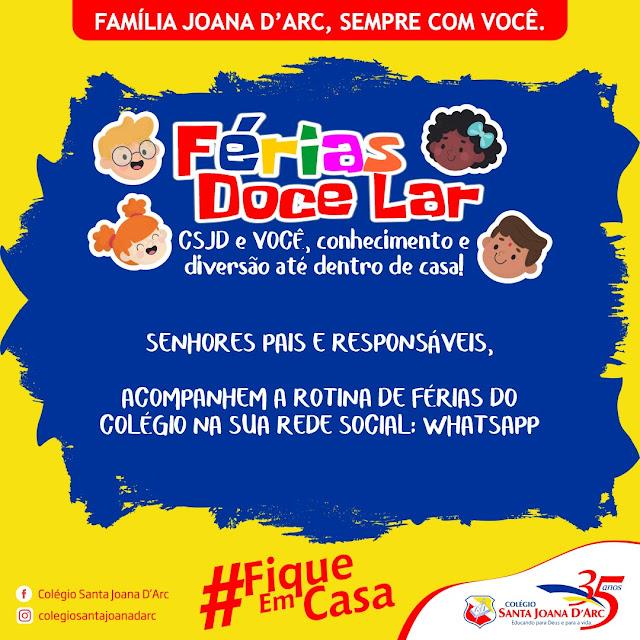 Férias Doce Lar!!!