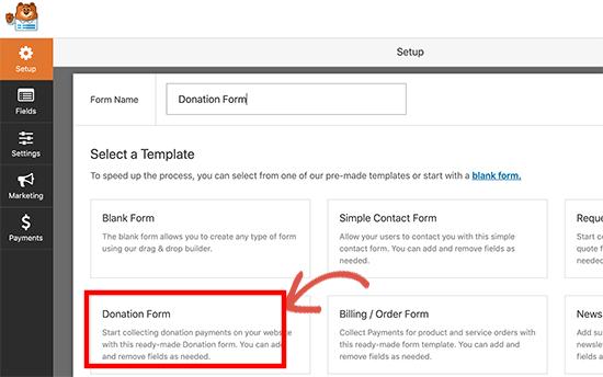 Create the Stripe Donation Form
