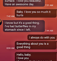 Screen shot of text messages