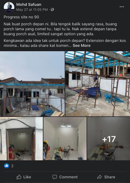 Contoh rumah busuk yang pernah diuruskan oleh tuan Mohd Safuan (Site no 90)