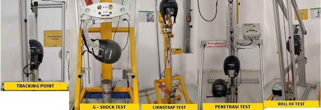 Lima tahapan pengujian helm standar SNI