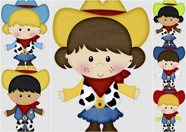Little Cowboys Clipart