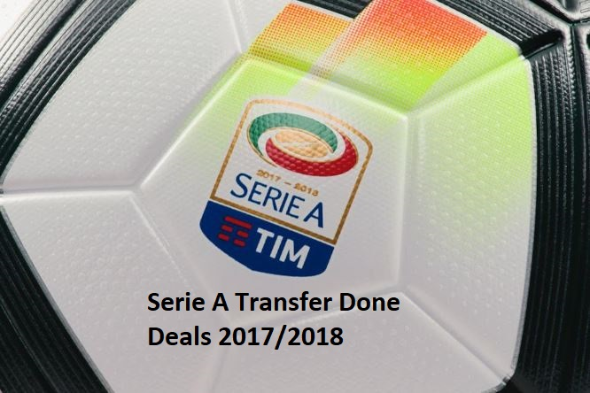 Serie A Transfer Done Deals 2017-2018