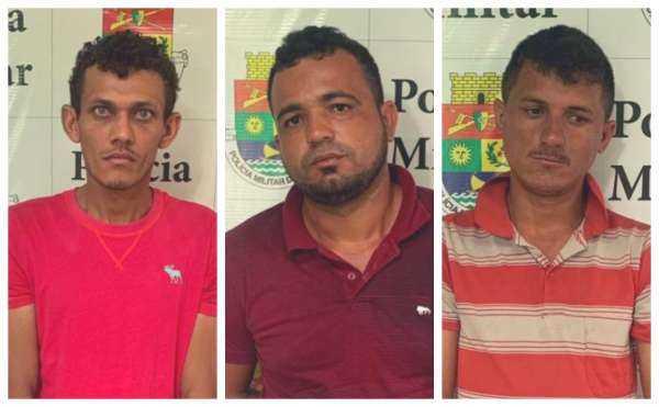 Trio é preso em Morada Nova suspeito de tráfico de drogas