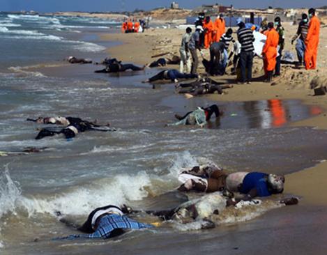 انتشال 82 جثة بسواحل تونس لضحايا غرق مركب للمهاجرين غير الشرعيين
