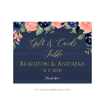 Gift and card sign