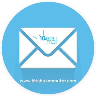 10minutemail: aplikasi penerima email spam