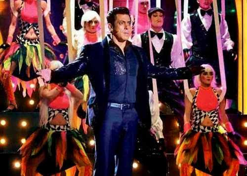 The popular actor and host of Bigg Boss season 7 Salman Khan giving performance on Bigg Boss finale stage
