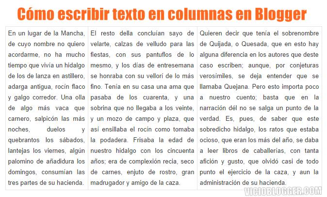 columnas entrada blogger