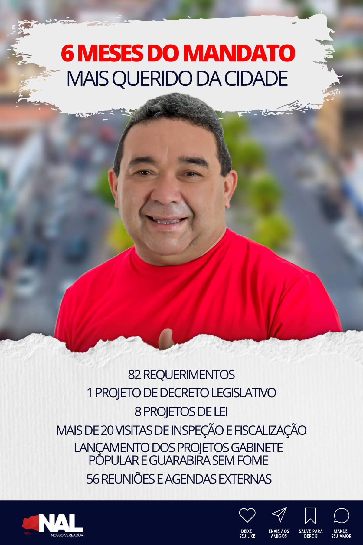 Em Guarabira vereador Nal Fernandes lider do MDB presta contas dos seis primeiros meses de mandato na CMG