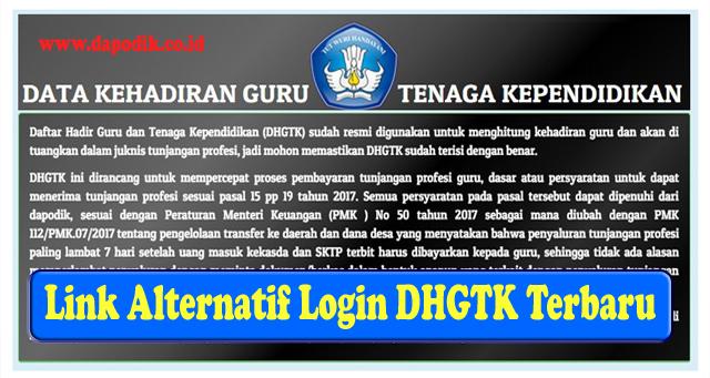 Inilah Link Alternatif Login DHGTK Terbaru