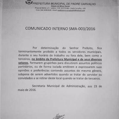 'Lei da mordaça': prefeito do PT que recebia Bolsa Família ameaça servidores